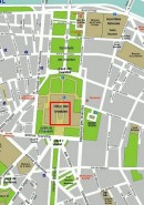 Localisation des Invalides. Crédit: //wikitravel.org/en/Image:Paris_7th_arrondissement_map_with_listings.png
