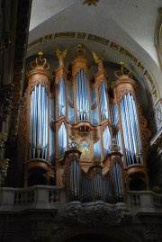 Le grand orgue depuis le collatéral Sud. Cliché personnel