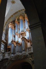 Le grand orgue depuis le collatéral Nord. Cliché personnel