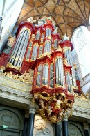 Le fameux orgue de St.-Bavo, Haarlem. Source: site Internet Marcussen