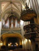 Grand Orgue Aloys Mooser de la cathédrale de Fribourg. Cliché personnel (2006)