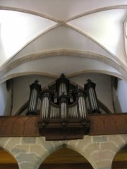 Le Grand Orgue en contre-plongée. Cliché personnel