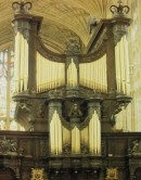 Grand Orgue Harrison du King's College de Cambridge, Angleterre. Crédit: Orgues, Office du Livre, 1984